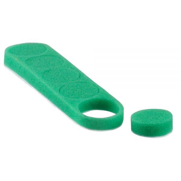 Heavy Cutting Pad Ø27x10mm - harter abrasiver Polierschwamm, grün
