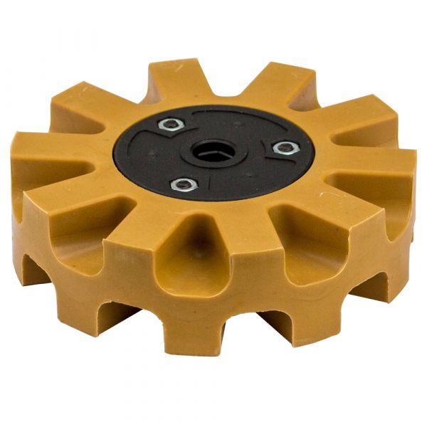 Folienradierer für Druckluft-Oberflächenschleifer Ø 105mm (karamell)