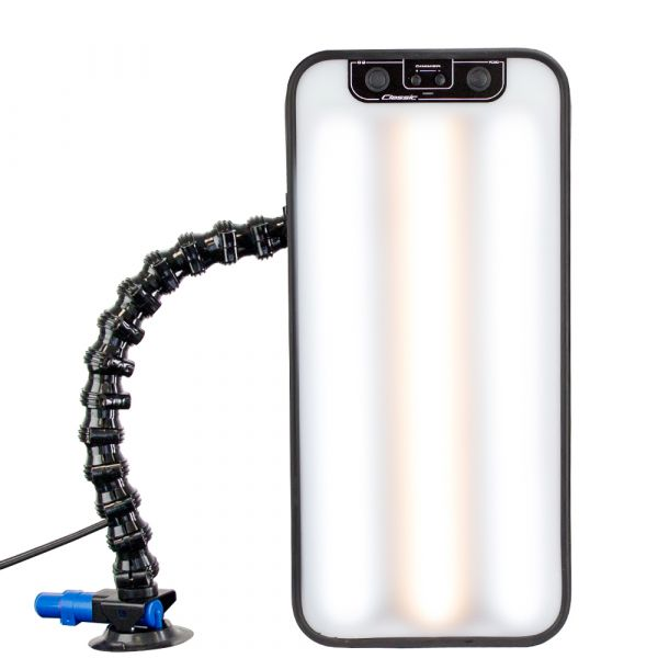 PDR Fixierlampe mit 3 LED-Lichtleisten und Saugfuß