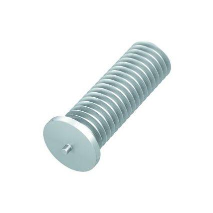 Anschweiß Gewindebolzen, Aluminium M6 x 12mm (100er Pack)