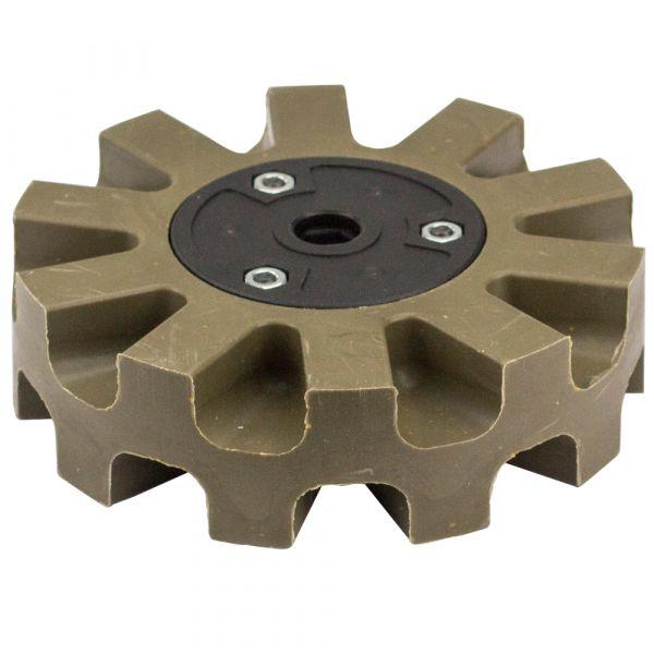 Folienradierer für Druckluft-Oberflächenschleifer Ø 105mm (grün)