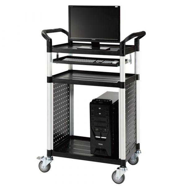 PC-Pult, fahrbarer Computertisch für die Werkstatt