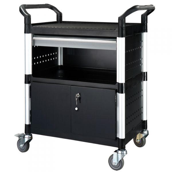 Werkstatt Servicewagen / Mehrzweckwagen mit abschließbarer Schwenktür aus Stahlblech